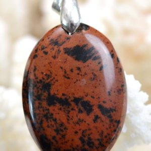 Shop Mahogany Obsidian Pendants! Obsidian mahogany 34 carats – cabochon pendant natural stone – Mexico // Ref S19 | Natural genuine Mahogany Obsidian pendants. Buy crystal jewelry, handmade handcrafted artisan jewelry for women.  Unique handmade gift ideas. #jewelry #beadedpendants #beadedjewelry #gift #shopping #handmadejewelry #fashion #style #product #pendants #affiliate #ad