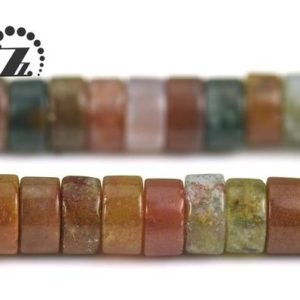 "Ocean Jasper smooth heishi spacer bead, gemstone,DIY beads,2x4mm 3x6mm for choice,15"" full strand 