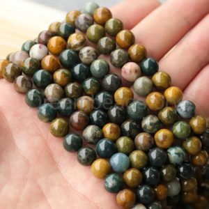 Shop Ocean Jasper Round Beads! A Grade Natural Madagascar Ocean Jasper Round 6mm 8mm Gemstone Beads for Jewelry Making | Natural genuine round Ocean Jasper beads for beading and jewelry making.  #jewelry #beads #beadedjewelry #diyjewelry #jewelrymaking #beadstore #beading #affiliate #ad