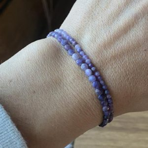 Shop Sugilite Bracelets! One Sugilite Bracelet (3mm Faceted Or 4mm Coin Matte) | Natural genuine Sugilite bracelets. Buy crystal jewelry, handmade handcrafted artisan jewelry for women.  Unique handmade gift ideas. #jewelry #beadedbracelets #beadedjewelry #gift #shopping #handmadejewelry #fashion #style #product #bracelets #affiliate #ad