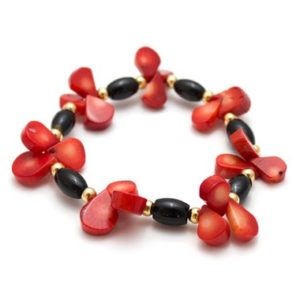 Shop Onyx Bracelets! Onyx Coral Bracelet/ Red Teardrop Jewelry/ Red Drop Bracelet/ Onyx Coral Jewelry/ Black Red Bracelet | Natural genuine Onyx bracelets. Buy crystal jewelry, handmade handcrafted artisan jewelry for women.  Unique handmade gift ideas. #jewelry #beadedbracelets #beadedjewelry #gift #shopping #handmadejewelry #fashion #style #product #bracelets #affiliate #ad