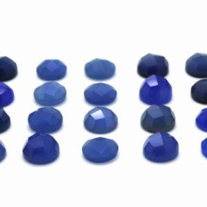Shop Onyx Stones & Crystals! GCF-1183 – Blue Onyx Faceted Cabochon – Round 6mm – Gemstone Cabochon – AA Quality – Package Of 4 Pcs | Natural genuine stones & crystals in various shapes & sizes. Buy raw cut, tumbled, or polished gemstones for making jewelry or crystal healing energy vibration raising reiki stones. #crystals #gemstones #crystalhealing #crystalsandgemstones #energyhealing #affiliate #ad