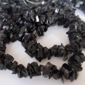Shop Onyx Chip & Nugget Beads! 5-7mm Black Onyx Chips, Black Onyx Gemstone Beads, Natural Rough Black Onyx Chips For Necklace 32 Inch Strand (1Strand To 5Strands Options) | Natural genuine chip Onyx beads for beading and jewelry making.  #jewelry #beads #beadedjewelry #diyjewelry #jewelrymaking #beadstore #beading #affiliate #ad