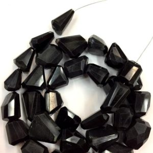 Shop Onyx Chip & Nugget Beads! Natural Black Onyx Faceted Nugget Beads Onyx Fancy Nuggets Shape beads Onyx Gemstone Beads Jewelry Making Nuggets Beads Top Quality | Natural genuine chip Onyx beads for beading and jewelry making.  #jewelry #beads #beadedjewelry #diyjewelry #jewelrymaking #beadstore #beading #affiliate #ad