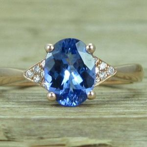 Shop Tanzanite Rings! Oval Tanzanite Engagement Ring, Antique Vintage Ring, December Birthstone ,Natural Oval Tanzanite Gemstone | Natural genuine Tanzanite rings, simple unique alternative gemstone engagement rings. #rings #jewelry #bridal #wedding #jewelryaccessories #engagementrings #weddingideas #affiliate #ad