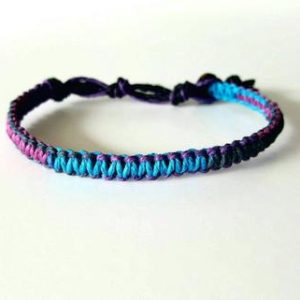 Shop Hemp Jewelry! Passion Multi-color Hemp Bracelet, Purple, Blue, Tie-die, Hemp Anklet, Indie Hemp Works, Hemp Jewelry, Aromatherapy, Natural, Bug Repellent | Shop jewelry making and beading supplies, tools & findings for DIY jewelry making and crafts. #jewelrymaking #diyjewelry #jewelrycrafts #jewelrysupplies #beading #affiliate #ad