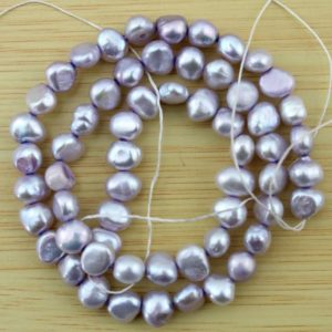 Shop Pearl Beads! 6-7mm Nugget  Pearl Beads, lavender Freshwater pearl Beads, Loose Pearl Beads,Pearl strand,wholesale pearls–60Pieces—15 inches–FS85 | Natural genuine beads Pearl beads for beading and jewelry making.  #jewelry #beads #beadedjewelry #diyjewelry #jewelrymaking #beadstore #beading #affiliate #ad