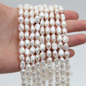 Shop Pearl Beads! 8~9mm Freshwater Pearl Beads,White Pearl,Nugget Fresh Water Pearl,Loose Natural Pearl Beads,Luster Pearl,Wedding Pearl Beads,Pearl Jewelry.   Natural genuine beads Pearl beads for beading and jewelry making.  #jewelry #beads #beadedjewelry #diyjewelry #jewelrymaking #beadstore #beading #affiliate #ad