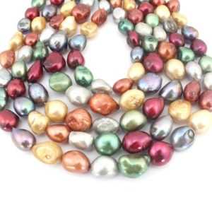 Shop Freshwater Pearls! Top Drilled Irregular Baroque Pearl Beads,Nugget Freshwater Pearls ,Mix Colors baroque pearl beads,Loose pearl beads,Wedding pearl-PS005   Natural genuine beads Pearl beads for beading and jewelry making.  #jewelry #beads #beadedjewelry #diyjewelry #jewelrymaking #beadstore #beading #affiliate #ad