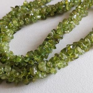 Shop Peridot Chip & Nugget Beads! 4-7mm Peridot Rough Chips, Peridot Beaded Rope, Natural Peridot Chips, Peridot Bead For Necklace 24 Inch (1Strand To 5Strands Option)-ANT165 | Natural genuine chip Peridot beads for beading and jewelry making.  #jewelry #beads #beadedjewelry #diyjewelry #jewelrymaking #beadstore #beading #affiliate #ad