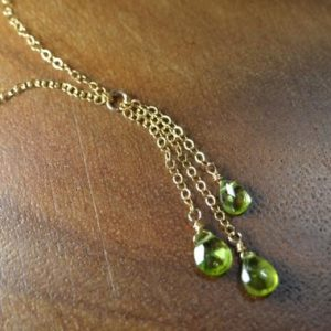 Shop Peridot Necklaces! Peridot Necklace In 14k Gold Fill, Sterling Silver / / Peridot Briolette Necklace / / August Birthstone / / 16th Anniversary / / Dainty Peridot | Natural genuine Peridot necklaces. Buy crystal jewelry, handmade handcrafted artisan jewelry for women.  Unique handmade gift ideas. #jewelry #beadednecklaces #beadedjewelry #gift #shopping #handmadejewelry #fashion #style #product #necklaces #affiliate #ad