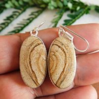 Picture Jasper Earring, sterling Silver Earrings, imperial Earring, owyhee Earrings, women's Jasper Earring, natural Brown Earring, stone Earring, | Natural genuine Gemstone jewelry. Buy crystal jewelry, handmade handcrafted artisan jewelry for women.  Unique handmade gift ideas. #jewelry #beadedjewelry #beadedjewelry #gift #shopping #handmadejewelry #fashion #style #product #jewelry #affiliate #ad