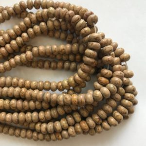 Shop Picture Jasper Rondelle Beads! Picture Jasper 8x5mm Rondelle Shaped Natural Gemstone Bead~ -15.5 Inch Strand–1 Strand / 3 Strands | Natural genuine rondelle Picture Jasper beads for beading and jewelry making.  #jewelry #beads #beadedjewelry #diyjewelry #jewelrymaking #beadstore #beading #affiliate #ad