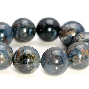 Shop Pietersite Beads! 12mm Genuine African Pietersite Gemstone Grade AAA Rare Blue Round Loose Beads 7 inch Half Strand LOT 1,2,6 and 12 (80006916-A229) | Natural genuine round Pietersite beads for beading and jewelry making.  #jewelry #beads #beadedjewelry #diyjewelry #jewelrymaking #beadstore #beading #affiliate #ad