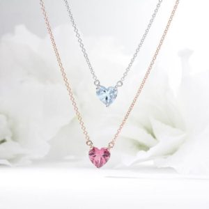 Shop Pink Tourmaline Necklaces! Heart Shape Pink Tourmaline Necklace | Natural genuine Pink Tourmaline necklaces. Buy crystal jewelry, handmade handcrafted artisan jewelry for women.  Unique handmade gift ideas. #jewelry #beadednecklaces #beadedjewelry #gift #shopping #handmadejewelry #fashion #style #product #necklaces #affiliate #ad