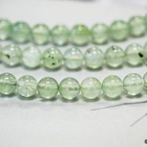 "Shop Prehnite Round Beads! M / Prehnite 10mm Round Loose Beads 15.5"" Long Green Color Gemstones Smooth Round Shape Wholesale Beads Supply 