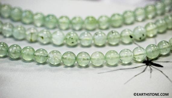"""M/ Prehnite 10mm Round Loose Beads 15.5"""" Long  Green Color Gemstones Smooth Round Shape Wholesale Beads Supply"""