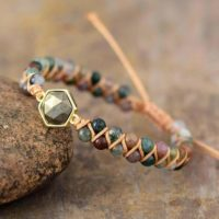 Natural Pyrite Stone Bracelet-stress Relief Gift Healing Balancing Calm Bracelet-spiritual Protection Meditation Anxiety Relief Bracelet | Natural genuine Gemstone jewelry. Buy crystal jewelry, handmade handcrafted artisan jewelry for women.  Unique handmade gift ideas. #jewelry #beadedjewelry #beadedjewelry #gift #shopping #handmadejewelry #fashion #style #product #jewelry #affiliate #ad