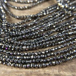 "Shop Pyrite Beads! 3mm Micro Faceted Pyrite Round Beads AAA Natural Iron Pyrite Beads Tiny Small Beads Gemstone Beads Supplies Jewelry Beads 15.5"" Full Strand 