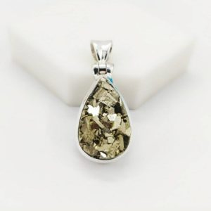 Shop Pyrite Pendants! Raw Pyrite Pendant, 925 Sterling Silver Pendant, Boho Jewelry, Peru Pyrite, Natural Stone, Metaphysical Crystal, Raw Gemstone. Free Shipping | Natural genuine Pyrite pendants. Buy crystal jewelry, handmade handcrafted artisan jewelry for women.  Unique handmade gift ideas. #jewelry #beadedpendants #beadedjewelry #gift #shopping #handmadejewelry #fashion #style #product #pendants #affiliate #ad