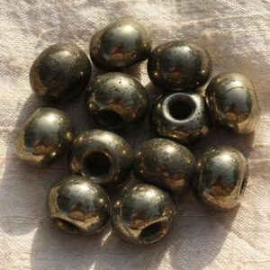 Shop Pyrite Rondelle Beads! 1pc – hole 7mm – Golden Rondelle 17x12mm 4558550015884 Pyrite stone bead   Natural genuine rondelle Pyrite beads for beading and jewelry making.  #jewelry #beads #beadedjewelry #diyjewelry #jewelrymaking #beadstore #beading #affiliate #ad