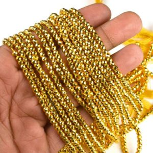 Shop Pyrite Rondelle Beads! Gold Polish Pyrite Beads Strand   Gemstone Bead   4 mm Bead   12 Inch Strand   Rondelle Bead   AAA+ Quality   Natural Bead   Loose Bead,Gift   Natural genuine rondelle Pyrite beads for beading and jewelry making.  #jewelry #beads #beadedjewelry #diyjewelry #jewelrymaking #beadstore #beading #affiliate #ad