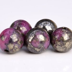 Shop Pyrite Round Beads! 66 Pcs / 33 Pcs – 6MM Rose Red Pyrite Beads Grade AAA Natural Round Gemstone Loose Beads (104602) | Natural genuine round Pyrite beads for beading and jewelry making.  #jewelry #beads #beadedjewelry #diyjewelry #jewelrymaking #beadstore #beading #affiliate #ad