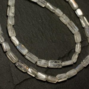 Shop Rainbow Moonstone Bead Shapes! Wire 40cm approx – stone beads – white Rainbow Moonstone 130pc sky 6-9mm – 8741140025806 Rectangles   Natural genuine other-shape Rainbow Moonstone beads for beading and jewelry making.  #jewelry #beads #beadedjewelry #diyjewelry #jewelrymaking #beadstore #beading #affiliate #ad