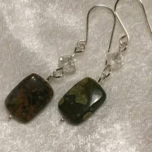 Shop Rainforest Jasper Earrings! Rainforest Jasper Earrings | Natural genuine Rainforest Jasper earrings. Buy crystal jewelry, handmade handcrafted artisan jewelry for women.  Unique handmade gift ideas. #jewelry #beadedearrings #beadedjewelry #gift #shopping #handmadejewelry #fashion #style #product #earrings #affiliate #ad