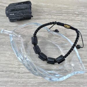 Raw Black Tourmaline Bracelet – Unisex – Adjustable, Lava Bead Accent, Hand Braided – *protection* – *grounding* – Reiki Energy | Natural genuine Array bracelets. Buy crystal jewelry, handmade handcrafted artisan jewelry for women.  Unique handmade gift ideas. #jewelry #beadedbracelets #beadedjewelry #gift #shopping #handmadejewelry #fashion #style #product #bracelets #affiliate #ad
