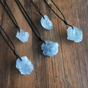 Shop Celestite Pendants! Raw Celestite Cluster pendant – blue celestite necklace- celestite cluster – healing crystals and stones – celestite crystal | Natural genuine Celestite pendants. Buy crystal jewelry, handmade handcrafted artisan jewelry for women.  Unique handmade gift ideas. #jewelry #beadedpendants #beadedjewelry #gift #shopping #handmadejewelry #fashion #style #product #pendants #affiliate #ad