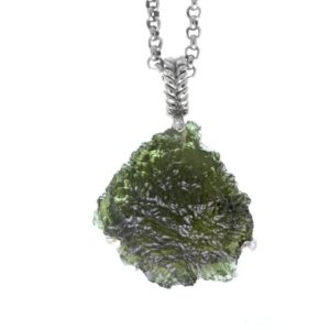Shop Moldavite Necklaces! Raw moldavite pendant/ Raw moldavite necklace/ Large moldavite pendant/ Meteorite pendant/ Raw green stone pendant/ Raw green stone necklace | Natural genuine Moldavite necklaces. Buy crystal jewelry, handmade handcrafted artisan jewelry for women.  Unique handmade gift ideas. #jewelry #beadednecklaces #beadedjewelry #gift #shopping #handmadejewelry #fashion #style #product #necklaces #affiliate #ad
