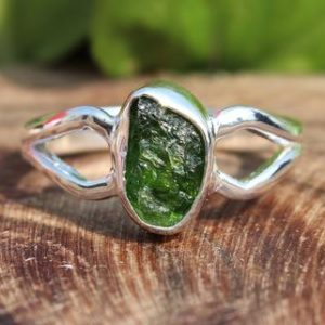 Shop Diopside Rings! Raw Chrome Diopside Ring   Natural Chrome Diopside Handmade Silver Ring   Sterling Solid Silver 925   Handmade Jewelry   Natural genuine Diopside rings, simple unique handcrafted gemstone rings. #rings #jewelry #shopping #gift #handmade #fashion #style #affiliate #ad