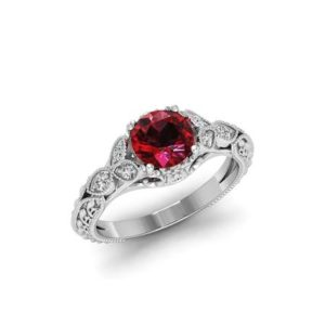Red Garnet Engagement Ring Rose Gold Garnet Silver Ring Women Garnet Promise Ring For Her Anniversary Gift January Birthstone Red Stone Ring | Natural genuine Array rings, simple unique alternative gemstone engagement rings. #rings #jewelry #bridal #wedding #jewelryaccessories #engagementrings #weddingideas #affiliate #ad