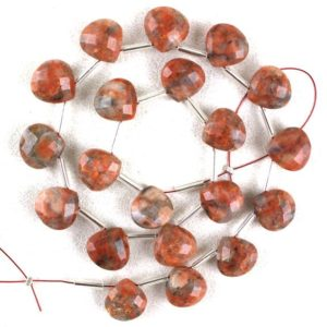 Good Quality 1 Strand Natural Jasper Gemstone , 10 MM ,Faceted Heart Beads, Red  Jasper,20 Pieces ,Making Jewelry ,Wholesale Price | Natural genuine other-shape Gemstone beads for beading and jewelry making.  #jewelry #beads #beadedjewelry #diyjewelry #jewelrymaking #beadstore #beading #affiliate #ad