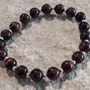 Shop Tiger Iron Bracelets! Red tiger eye bracelet 8 mm #02   Natural genuine Tiger Iron bracelets. Buy crystal jewelry, handmade handcrafted artisan jewelry for women.  Unique handmade gift ideas. #jewelry #beadedbracelets #beadedjewelry #gift #shopping #handmadejewelry #fashion #style #product #bracelets #affiliate #ad