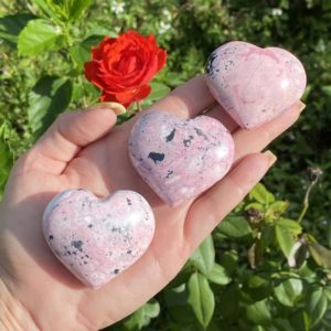 Shop Rhodochrosite Shapes! Rhodochrosite Crystal Heart, Rhodochrosite, Pink Crystal Heart, Puffy Heart, Polished Rhodochrosite | Natural genuine stones & crystals in various shapes & sizes. Buy raw cut, tumbled, or polished gemstones for making jewelry or crystal healing energy vibration raising reiki stones. #crystals #gemstones #crystalhealing #crystalsandgemstones #energyhealing #affiliate #ad