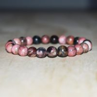 8mm Rhodonite Bracelet, Rhodonite Healing Bracelet, Bracelet For Women Bracelet, Healing Bracelet | Natural genuine Gemstone jewelry. Buy crystal jewelry, handmade handcrafted artisan jewelry for women.  Unique handmade gift ideas. #jewelry #beadedjewelry #beadedjewelry #gift #shopping #handmadejewelry #fashion #style #product #jewelry #affiliate #ad