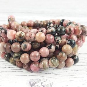 Shop Rhodonite Bead Shapes! Rhodonite Gemstone Beads, Reiki Infused Large Hole Beads | Natural genuine other-shape Rhodonite beads for beading and jewelry making.  #jewelry #beads #beadedjewelry #diyjewelry #jewelrymaking #beadstore #beading #affiliate #ad