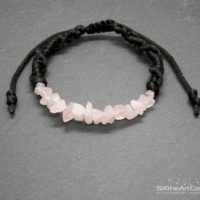 Rose Quartz Bracelet, Love Stone, Heart Chakra Crystal, Taurus Gift For Him Or For Her, Gemstone Netted Wristband, Men Jewelry | Natural genuine Gemstone jewelry. Buy crystal jewelry, handmade handcrafted artisan jewelry for women.  Unique handmade gift ideas. #jewelry #beadedjewelry #beadedjewelry #gift #shopping #handmadejewelry #fashion #style #product #jewelry #affiliate #ad