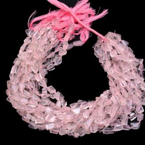 Shop Rose Quartz Chip & Nugget Beads! Rose Quartz 10mm-13mm Faceted Nugget Beads   AAA Soft Pink Rose Quartz Gemstone Step Cut Tumbled   Natural Semi Precious Gemstone Rare Beads   Natural genuine chip Rose Quartz beads for beading and jewelry making.  #jewelry #beads #beadedjewelry #diyjewelry #jewelrymaking #beadstore #beading #affiliate #ad