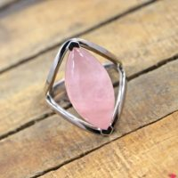 A Beautiful Ring Of Rose Quartz / 11*22 Mm Marquise Rose Quartz Ring /  925 Sterling Silver Ring Of Rose Quartz / A Perfect Gift For Her | Natural genuine Gemstone jewelry. Buy crystal jewelry, handmade handcrafted artisan jewelry for women.  Unique handmade gift ideas. #jewelry #beadedjewelry #beadedjewelry #gift #shopping #handmadejewelry #fashion #style #product #jewelry #affiliate #ad