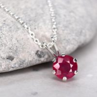 Faceted Ruby Necklace, Untreated Natural Ruby Aaa, July Birthstone Necklace, Minimalist Genuine Ruby Pendant, Dainty Red Stone Necklace | Natural genuine Gemstone jewelry. Buy crystal jewelry, handmade handcrafted artisan jewelry for women.  Unique handmade gift ideas. #jewelry #beadedjewelry #beadedjewelry #gift #shopping #handmadejewelry #fashion #style #product #jewelry #affiliate #ad
