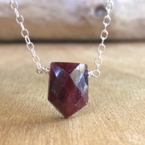 Shop Ruby Pendants! Ruby Pendant Necklace – Red Stone Necklace – July Birthstone Necklace – Ruby Jewelry – Healing Crystal Necklace | Natural genuine Ruby pendants. Buy crystal jewelry, handmade handcrafted artisan jewelry for women.  Unique handmade gift ideas. #jewelry #beadedpendants #beadedjewelry #gift #shopping #handmadejewelry #fashion #style #product #pendants #affiliate #ad