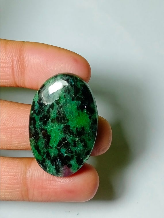 Natural Ruby Zoisite Cabochons,ruby Zoisite Gemstone,ruby Zoisite Loose Stone,,ruby Zoisite Jewelry Making  46cts.36x23mm