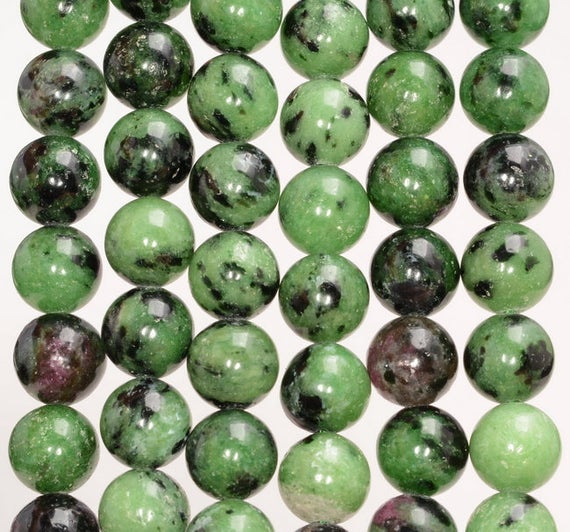 4mm Ruby Zoisite Gemstone Green Red Grade A Round Loose Beads 15.5 Inch Full Strand (80006804-783)