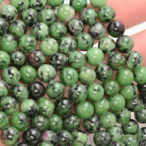 Shop Ruby Zoisite Round Beads! SALE PRICE + Free USA Ship Genuine Natural Ruby Zoisite Round Shape 4mm 6mm 8mm 10mm Grade Aa | Natural genuine round Ruby Zoisite beads for beading and jewelry making.  #jewelry #beads #beadedjewelry #diyjewelry #jewelrymaking #beadstore #beading #affiliate #ad