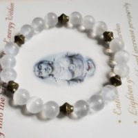 Selenite Raw Gypsum Genuine Untreated – Brass Therapeutic Quality Gemstone Energy Bracelet For Healing 8mm | Natural genuine Gemstone jewelry. Buy crystal jewelry, handmade handcrafted artisan jewelry for women.  Unique handmade gift ideas. #jewelry #beadedjewelry #beadedjewelry #gift #shopping #handmadejewelry #fashion #style #product #jewelry #affiliate #ad