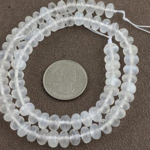 Shop Selenite Beads! 5x8mm  Selenite Rondelle Natural Bead 15.5 inch strand, approx 79 beads, 0.7mm hole  TFS028 | Natural genuine rondelle Selenite beads for beading and jewelry making.  #jewelry #beads #beadedjewelry #diyjewelry #jewelrymaking #beadstore #beading #affiliate #ad