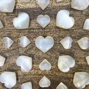 Shop Selenite Shapes! Selenite Crystal Heart – Selenite Puffy Heart – Healing Crystals – Healing Stones – Home Decor – Sacred Space | Natural genuine stones & crystals in various shapes & sizes. Buy raw cut, tumbled, or polished gemstones for making jewelry or crystal healing energy vibration raising reiki stones. #crystals #gemstones #crystalhealing #crystalsandgemstones #energyhealing #affiliate #ad